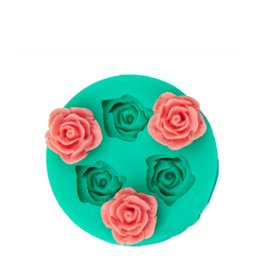 $enCountryForm.capitalKeyWord UK - 1pcs rose flower Silicone soap mold fondant cake sugar craft decorating tools gem Chocolate clay baking pastry mould