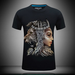 $enCountryForm.capitalKeyWord Canada - Personality funny t shirts for men 3d tee shirts lion printed summer casual t shirt rock band t shirts mens fashion designer clothing