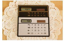 Discount solar battery calculator - Korea cute high-end ultra-thin portable card calculator solar learning office supplies