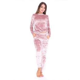 $enCountryForm.capitalKeyWord UK - Sexy Women Tracksuit Sets 2017 New Autumn Winter Fashion Velvet Long Sleeve Femme Hoodies Tops +Slim Pants Suits 2 Piece Set