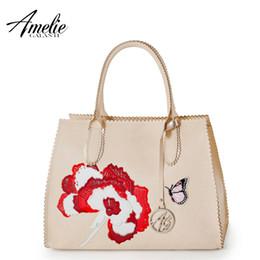 $enCountryForm.capitalKeyWord Canada - Wholesale- AMELIE GALANTI 2016 luxury handbags designer women bag Embroidery decal packages fashion Messenger Bags Saffiano