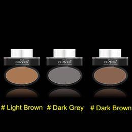 $enCountryForm.capitalKeyWord Australia - Eyes Makeup Eyebrow Powder Eyebrow Stamp Seal Brands Waterproof Grey Brown Eye Brow Powder with Eyebrow Stencils Brush Tools