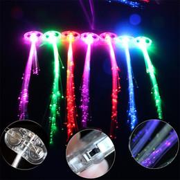 $enCountryForm.capitalKeyWord Canada - Flash light emitting braid fiber optic wire braid hairpin LED light bar wig party supplies Factory Outlet