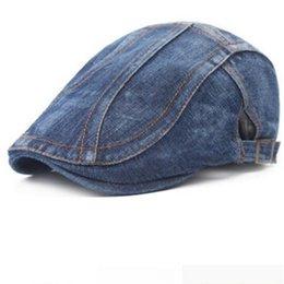 31ea52c4c66 New Fashion Summer Denim Berets Cap for Men Women Washed Denim Hat Unisex Jeans  Hats 6pcs lot
