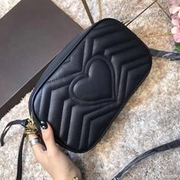Discount red heart queen - bags handbags women famous brands quilted shoulder bags Broadway leather crossbody bag luxury designer heart partten pur