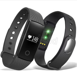$enCountryForm.capitalKeyWord NZ - Cheap ID 107 ID107 For Iphone X Smart Band Smart Watch Bluetooth Smart WristBands Bracelet With Metal Button Heart Rate Monitor + Package