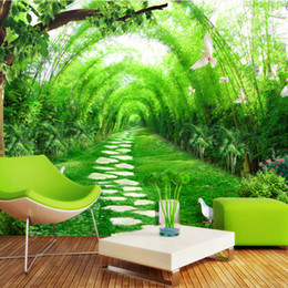$enCountryForm.capitalKeyWord NZ - Custom photo 3D Mural Wallpaper Fresh bamboo forest road 3D Wall Decorations Living Room Bed Room TV Backdrop Photo Wallpaper