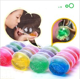 $enCountryForm.capitalKeyWord Australia - 24pcs set Non-toxic Blowing Bubbles Crystal Mud Super Light Clay Draw Slime Funny Toys Hand-Pulled Noodle Crystal Playdough Mud Toys Putty
