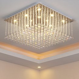 $enCountryForm.capitalKeyWord Canada - Chandelier led lights crystal modern simple creative elegant rectangle shape chandeliers pendant ceiling lighting fixture chandeliers lamp