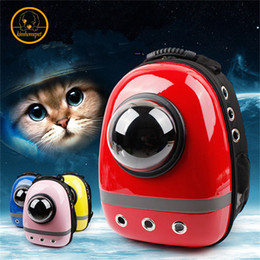 $enCountryForm.capitalKeyWord Canada - New Pet Supplies Space Capsule Shaped Bag Pet Carrier Breathable Backpack pet dog outside Travel bag portable bag cat bags PA65