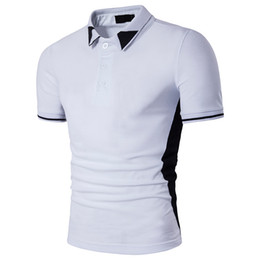 quick dry shirts for men UK - Black white Poloshirts For Mens Tops Fashion Polo T Shirts 2017 New Arrival Brand T Shirt Summer Pop Short Sleeve Clothing Wholesale