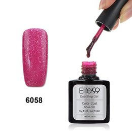 Base Un Gel Uv Pas Cher-Wholesale-New 30 Couleurs Vernis à ongles Elite99 3 en 1 Soak Off One Step Gel Polish Pas besoin Base Top Coat UV LED Lamp Geil Vernis à ongles
