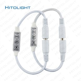 single color light controller Canada - HITOLIGHT DC12V-24V Mini LED Single Color Controller Dimmer 3 key for Single Color LED Strip Light SMD 2835 5050 DC Connector