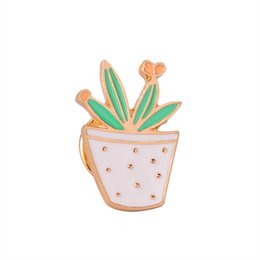 $enCountryForm.capitalKeyWord UK - Enamel Pin Set Badge For Clothes Colorful Cartoon Brooches Succulents Potted Plant Flower Cat Leaf Cactus Jacket Bag DIY Badge