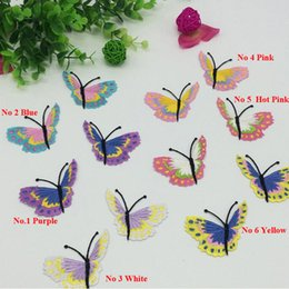 Dance Patches NZ - 40pcs Butterfly Iron On Patches parches Stickers Embroidered Jacket Dancing Dress Patch For Clothing Cheongsam Stage Patchwork Appliqued DIY