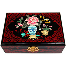 $enCountryForm.capitalKeyWord Canada - Pingyao pushing lacquer ware, wooden jewelry box, European Princess dressing box, make-up bride, dowry, wedding gift