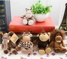 Nici toys wholesale online shopping - cm Germany NICI Jungle Brother plush toys Zero Profit Cute Tiger Elephant Monkey Lion Giraffe Key chain toys