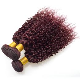 China Burgundy Weave Malaysian Virgin Hair Kinky Curly 4 Bundles Red Wine 7a Unprocessed Virgin Hair 99j Curly Weave Human Hair cheap red curly human hair suppliers