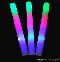 Led foam sticks online shopping - Manufacturer colorful glow sponge stick LED glow stick flash foam bar sponge bar KTV props