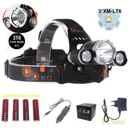 high lumen rechargeable flashlights NZ - VICMAX 2pairs 1850 Battery include 3T6 headlamp 3x XM-L T6 LED Headlight 8000 Lumen Head Lamp Flashlight Torch Lanterna led Head