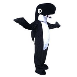shark black NZ - Black Shark Dolphin Mascot Costumes Cartoon Character Adult Sz 100% Real Picture 001