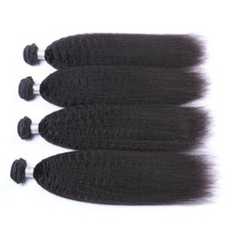 High Quality Bundle Human Hair NZ - Malaysian human hair extension 1b kinky straight virgin hair bundles high quality 3pcs a lot free shipping