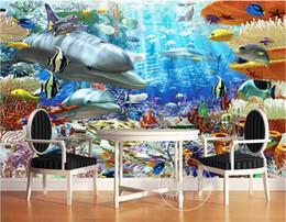 $enCountryForm.capitalKeyWord Australia - 3d room wallpaer custom mural photo Underwater World Dolphin Background Wall painting 3d wall murals wallpaper for walls 3 d