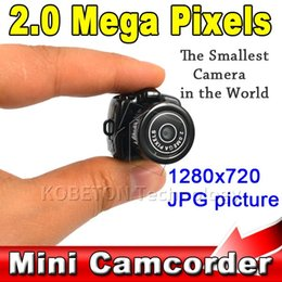 Digital Micro Hd Camera Canada - Lowest Price Micro Portable HD CMOS 2.0 Mega Pixel Pocket Video Audio Digital Camera Mini Camcorder 640*480 480P DV DVR 720P