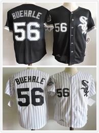 2017 new 56 mark buehrle chicago white sox mens 2005 retro black white baseball jerseys throwback