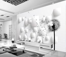 Toptan satış 3D karahindiba TV arka plan duvar duvar 3d duvar kağıdı 3d duvar kağıtları tv için zemin