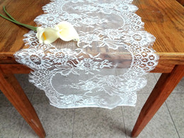 $enCountryForm.capitalKeyWord NZ - Lace Table Runners Chair Sashes Covers Wedding Party Event Supplies Accessories Home Textiles Kitchen Dining Bar Decor WHITE BLACK 36*300cm