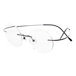 e8fe4418a8 Wholesale- Steve Jobs Star Style Ultra-light Memory Titanium Rimless Myopia Eyeglasses  Optical Glasses Frame Men Eyewear Oculos De Grau