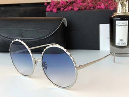 blue mirrored designer sunglasses 2018 - Luxury Fashion LF 662 Sunglasses For Women With Mirror Lens Sunglasses UV Protection Popular Brand Designer Full Round F