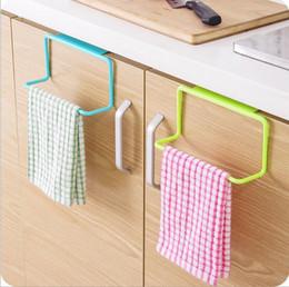 Bathroom Tools Canada - 4 colors multifunctional plastic towel storage holder rack bathroom kitchen cabinet over door hanger hooks shelf free shipping