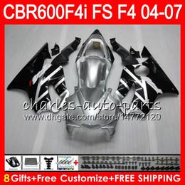 Cbr f4i injeCtion fairings online shopping - 8Gift Colors For HONDA CBR600FS FS CBR600F4i HM13 Black silver CBR600 F4i CBR F4i CBR F4i Fairing
