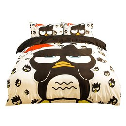 $enCountryForm.capitalKeyWord Canada - Cartoon Christmas Penguin Printing Bedding Sets Twin Full Queen King Size Fabric Cotton Duvet Covers Pillow Shams Comforter Animal Fashion