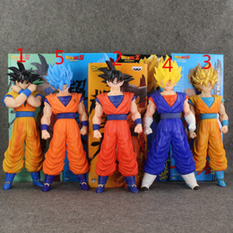 Goku Saiyan Kid Action Figure Canada - 5 Styles Anime Dragon Ball Super Saiyan SON GOKU PVC Action Figure Collectable Model toy for kids Christmas gift free shipping retail