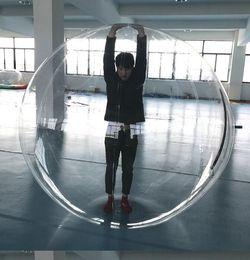 Toptan satış 1.3m 1.5m 1.8m Çocuklar Su oyuncak Yürüyüş top PVC şişme haddeleme topu su dans Zorb topları spor büyük topları