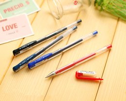 Navy Gel NZ - Wholesale-Genuine Japan Uni-ball um-100 gel pen Signo series 10pcs lot 0.5mm Colorful Black Red Blue smooth write school and office pens