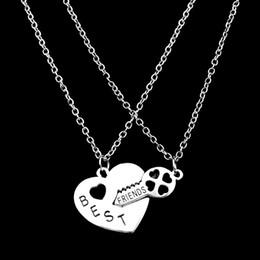 cb37be3206 matching couples necklace 2019 - 2017 women necklace Korean Couple Necklaces  Set Pendant Necklace Matching Hearts
