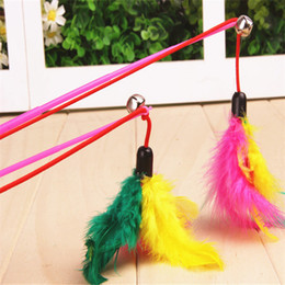 $enCountryForm.capitalKeyWord Canada - Kitten Cat Pet Toy Pet Wire Chaser Wand Cat Teaser Feather With Bell Beads
