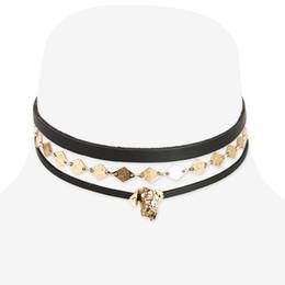 Pendant designs gothic online shopping - Fashion Gothic Snap Street Leather Copper Alloy Choker Pendant Necklace Original Creative Design DIY Punk Choker Jewelry Necklace