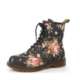 $enCountryForm.capitalKeyWord NZ - Shoes Women boots, Fashionable Floral Shoes, Motorcycle Lace-Up Oxfords, Women Flat Booties, Casual Demi-season Shoes . XZ-017