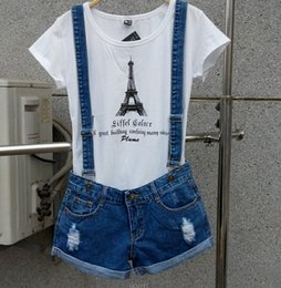 $enCountryForm.capitalKeyWord Canada - Wholesale- New 2017 Strap shorts jeans overalls plus size loose casual denim shorts suspenders Jumpsuits Rompers women blue hole S-XXL Bob