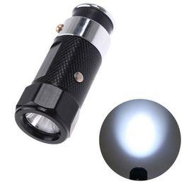 Flash Drive Fish Australia - Outdoor Gear LED Rechargable Car Cigarette Lighter Flashlight Torch aluminium alloy flash light 3 modes Free Shipping
