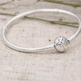 $enCountryForm.capitalKeyWord NZ - 1pcs Fashion Genuine 100% 925 Sterling Silver Sunflower Design Round Clip Bracelet Fit European Charm Bead Authentic Luxury DIY Jewelry Gift