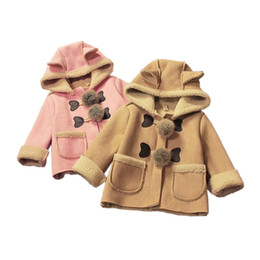 $enCountryForm.capitalKeyWord Canada - cute baby thicken coat solid lambskin hooded warm overcoat for 9-36M baby newborn infant Winter outerwear princess coat clothes