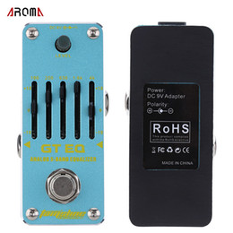 ElEctric guitar EqualizEr online shopping - HOT selling AROMA AEG GT EQ Analog Band Equalizer Electric Guitar Effect Pedal Mini Single Effect with True Bypass Guitar delay pedal