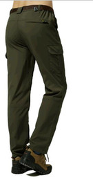 Warm Waterproof Pants Men Australia - Outdoor charge qiu dong with velvet pants men thickening warm pants waterproof breathable mountain ski pants