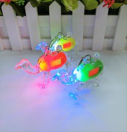 $enCountryForm.capitalKeyWord Canada - Novel strong LED camel luminous key buckle toy plastic flashing color electronic lamp Toy Fittings